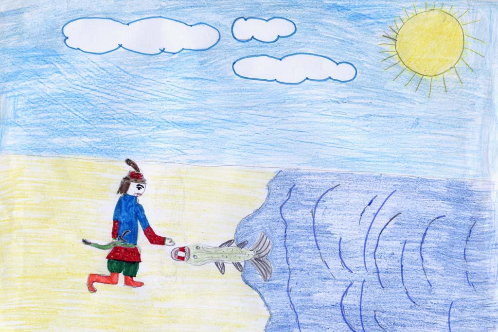 Рисунки к русским сказкам про животных